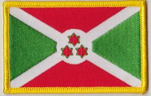 Burundi Embroidered Flag Patch, style 08.